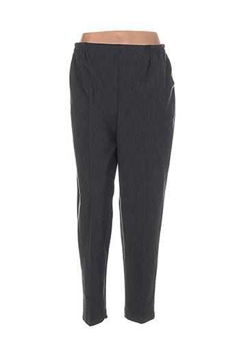 megan paris pantalons femme de couleur gris