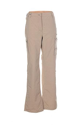aigle pantalons femme de couleur beige