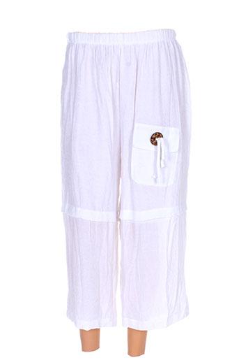 n&l fashion pantacourts femme de couleur blanc