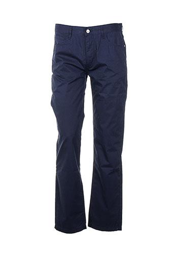 aigle pantalons femme de couleur bleu