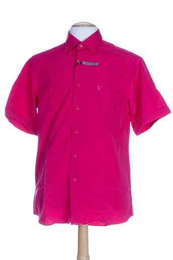bande originale chemises homme de couleur rose