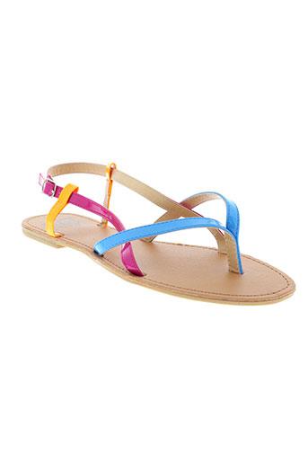 cassis et cote et d et azur sandales et nu et pieds fille de couleur bleu