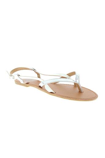 cassis cote d'azur chaussures fille de couleur blanc