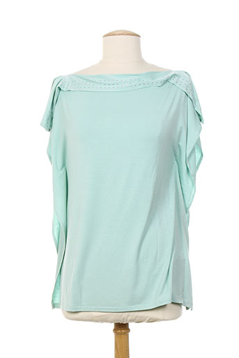 aby gardner t-shirts femme de couleur bleu