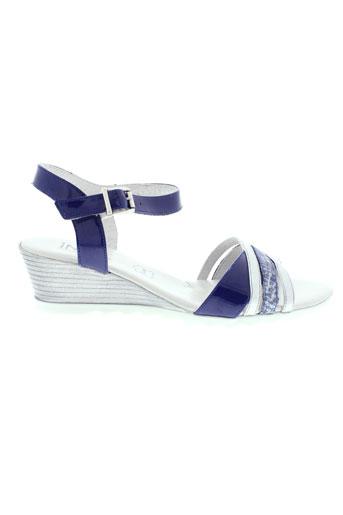 inea sandales et nu et pieds femme de couleur bleu