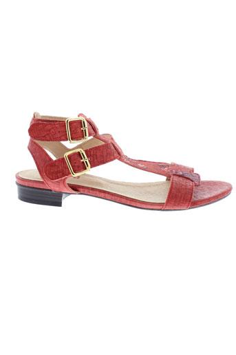 vileya paris chaussures femme de couleur rouge