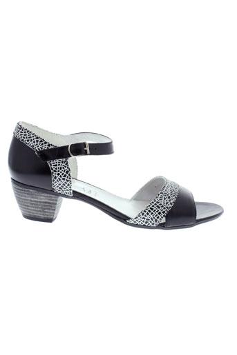 inea sandales et nu et pieds femme de couleur noir