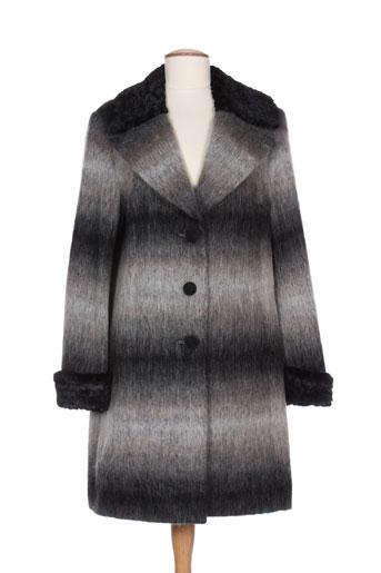 karting manteaux femme de couleur gris