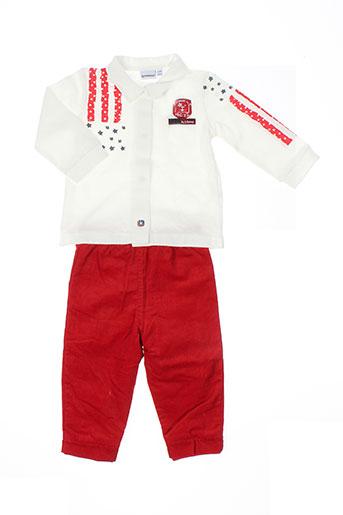 3 et pommes t et shirt et pantalon garcon de couleur rouge (photo)