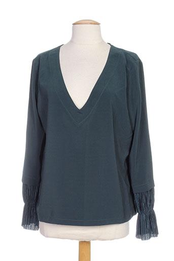jane wood chemises femme de couleur vert