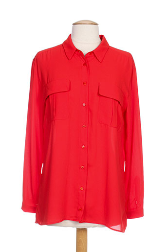 amz chemises femme de couleur rouge