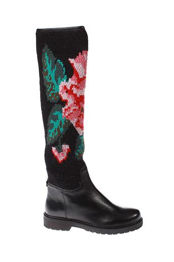twin et set bottes femme de couleur noir