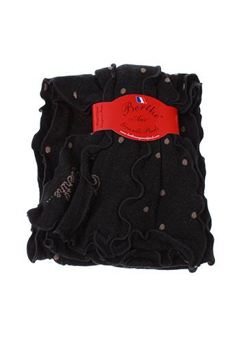 berthe et aux et grands et pieds echarpes et gants femme de couleur noir