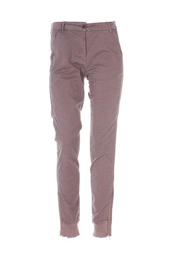 essentiel pantalons femme de couleur gris