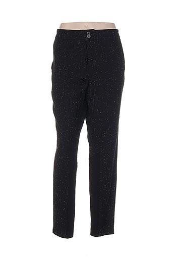 imitz pantalons femme de couleur noir