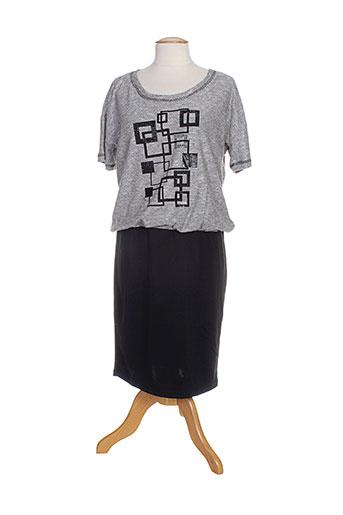 brandtex robes femme de couleur gris