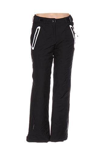 icepeak pantalons et decontractes femme de couleur noir