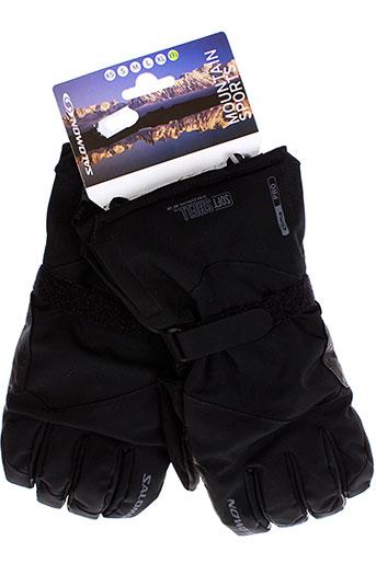 salomon echarpes et gants homme de couleur noir