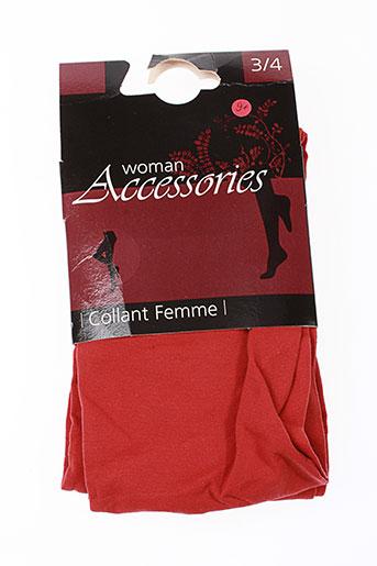 accessories bas et collants femme de couleur rouge (photo)