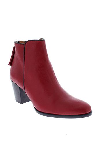 mkd boots femme de couleur rouge