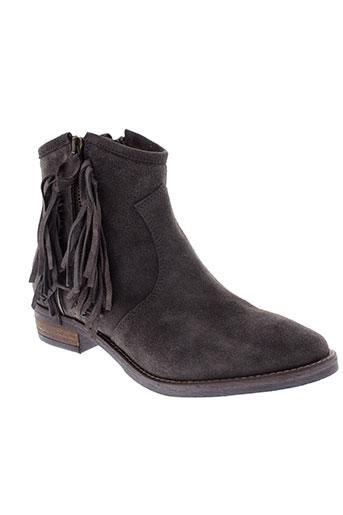 reqins boots femme de couleur gris