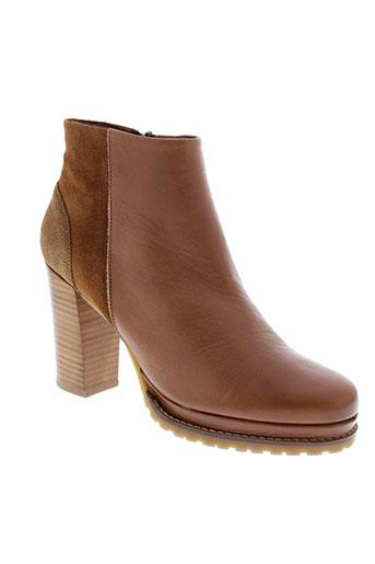 minka et design boots femme de couleur marron