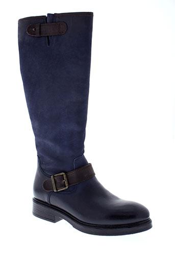 cafe et noir bottes femme de couleur bleu