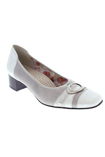 ombelle escarpins femme de couleur gris