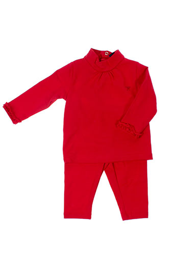 girandola ensembles fille de couleur rouge