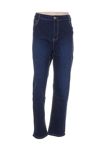 adb et denim jeans et coupe et droite femme de couleur bleu