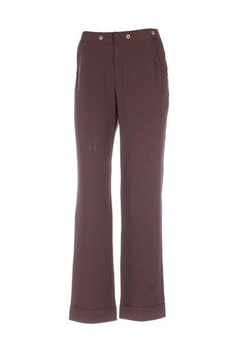 ecru pantalons femme de couleur marron