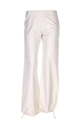 chattawak pantalons femme de couleur blanc