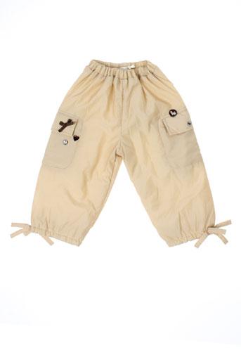 les bebes de floriane pantalons fille de couleur beige