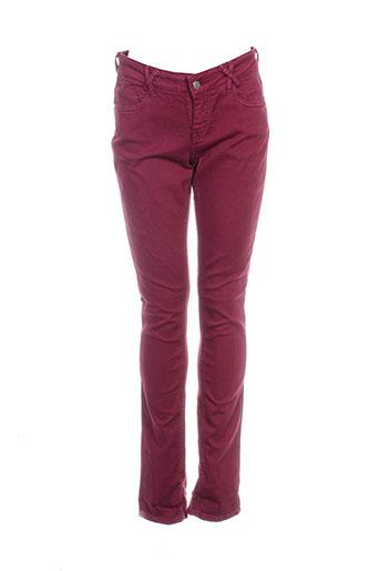 kanope pantalons femme de couleur rouge