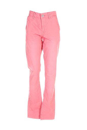 pepe jeans pantalons garçon de couleur rose