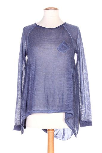 define pulls femme de couleur bleu