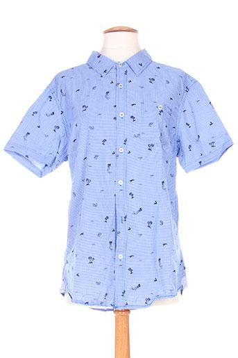 kenzarro chemises homme de couleur bleu