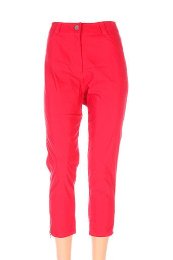 nana belle pantalons femme de couleur rouge