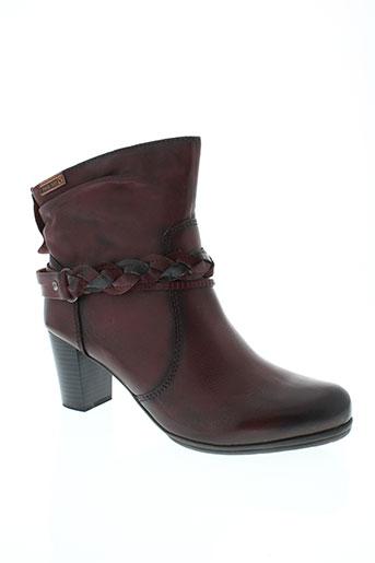 pikolinos boots femme de couleur rouge