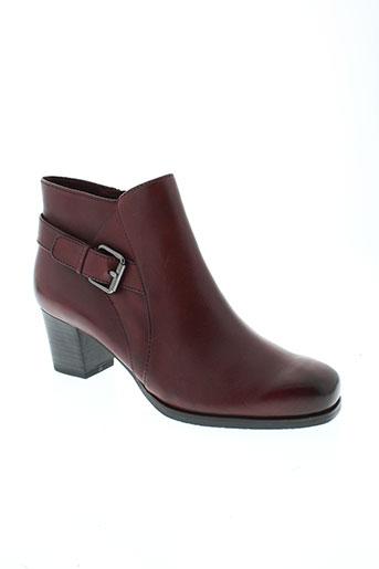 tamaris boots femme de couleur rouge
