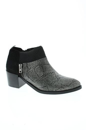 regard boots femme de couleur gris
