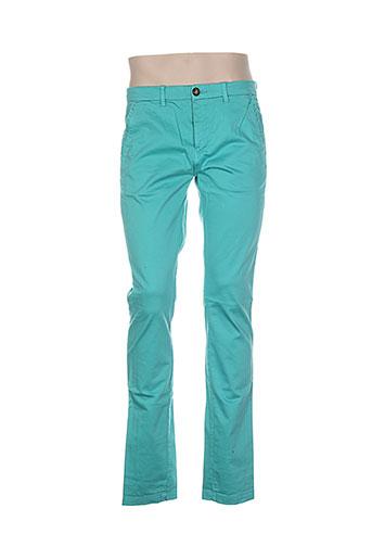 atelier oscar pantalons homme de couleur vert