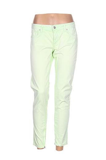 pepe jeans pantalons femme de couleur vert