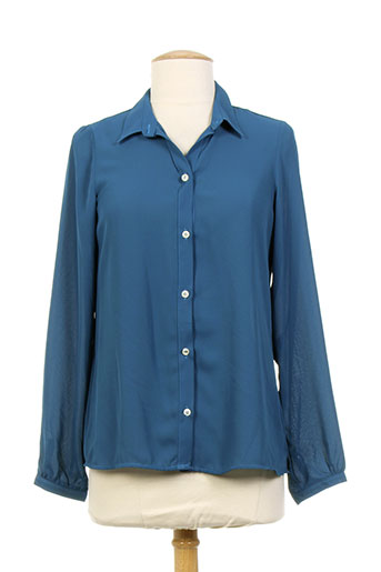 desgaste chemises femme de couleur bleu