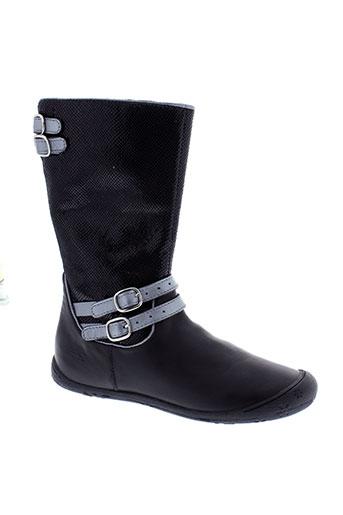 aster bottes fille de couleur noir