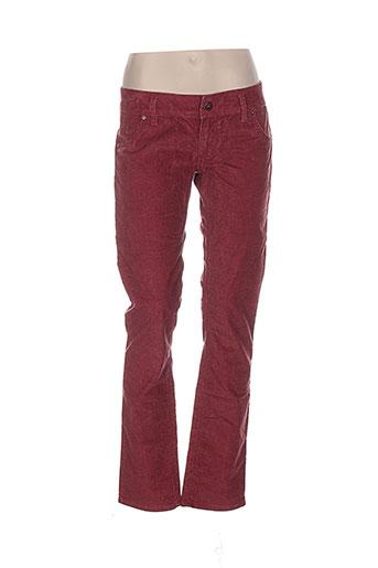 free et soul pantalons et decontractes femme de couleur rouge