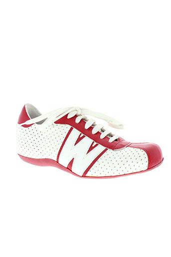 wild collection chaussures femme de couleur rouge
