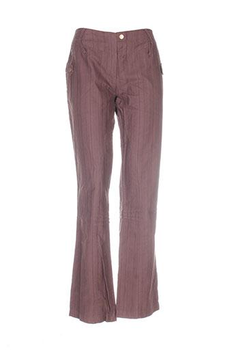 antognini jeans pantalons femme de couleur marron