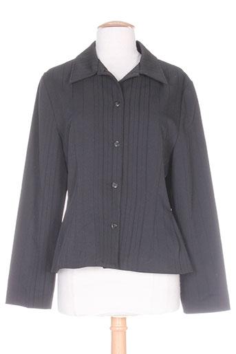 Veste casual noir CARNET DE BORD pour femme
