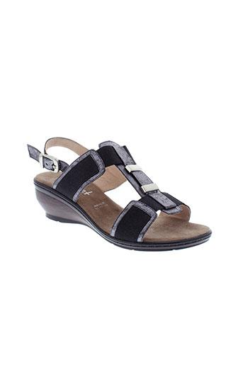 sweet sandales et nu et pieds femme de couleur gris